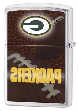 Zippo Pocket Lighter NFL Green Bay Packers Brushed Chrome Po