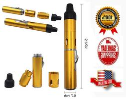 Portable Metal All in One Pipe with Lighter, Click-n Hit, Co