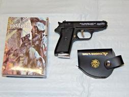 Walther PPK Gun Shape Jet Torch Lighter With Spring Knife Cl