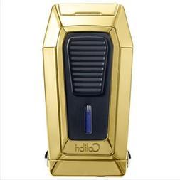 Colibri Quantum Triple Jet Lighter Gold