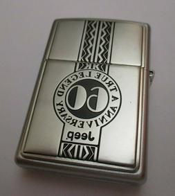 Rare JEEP 60th Anniversary Zippo lighter circa 2001