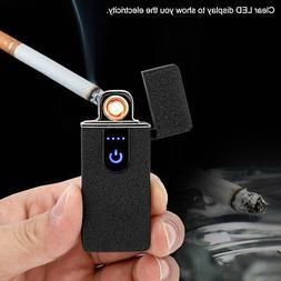 Rechargeable Fingerprint USB Electric Lighter Windproof Flam
