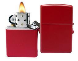 Zippo Red Matte Lighter - 233