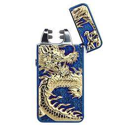 Pard Relief Dragon Windproof Cross Arc Lighter, USB Recharge