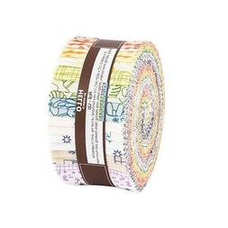 "Robert Kaufman On the Lighter Side Roll Up 2.5"" Fabric Strip"