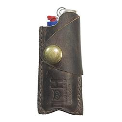 Rustic Leather Lighter Protective Case Handmade by Hide & Dr