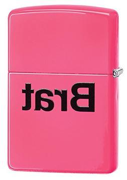 Zippo Brat Pocket Lighter, Neon Pink
