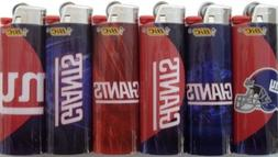 6pc Set BIC New York Giants NFL Lighters