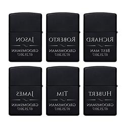 Set of 6 - Personalized Lighter, Groomsmen Gifts - Gift Idea
