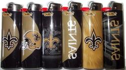 6pc Set BIC New Orleans Saints NFL Officially Licensed Cigar