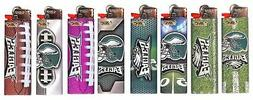 6pc Set BIC Philadelphia Eagles NFL Officially Licensed Ciga