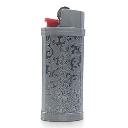 Lucklybestseller Silver and Gray Color Vintage Metal Lighter