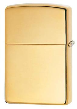 Zippo Solid Brass Lighter with High Polished Finish