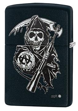 Zippo Sons of Anarchy Grim Reaper Pocket Lighter, Black Matt