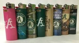 BIC Special Edition BASEBALL OAKLAND A's Series Lighters,