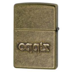 Zippo Stamped, Antique Brass 28994