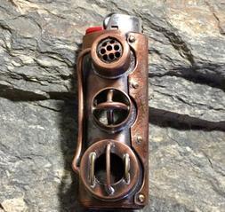 Handmade Steampunk Lighter Cover Case Sleeve Copper & Brass