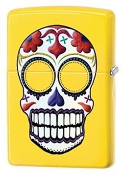 Zippo Sugar Skull Lemon Matte Pocket Lighter