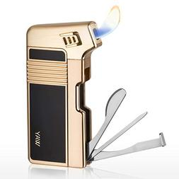 Tobacco Pipe Lighter, VVAY Metal Pipe Lighter Gas Butane Ref