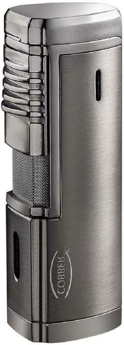 Cobber Torch Cigar Lighter, Quad 4 Jet Red Flame Refillable