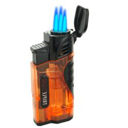 Triple Jet Torch Lighter Butane Refillable Windproof Flame w