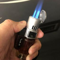 Triple Jet Windproof Torch Power Lighter Flame Butane for Ci