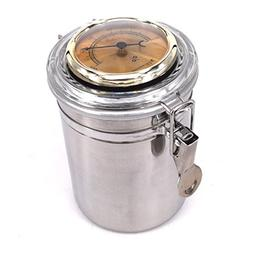 CiGuru TS002G Tobacco Jar Tobacco Storage Jar Herb Container