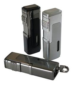 The Tsunami Quad Torch Butane Lighter - Color: Black
