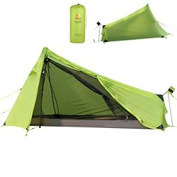 Andake Ultralight Tent Waterproof 1 Person Camping Tent/Back
