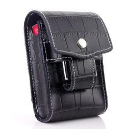 Unique Black Waist Cigarette Case With Lighter Holder For Ki