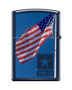 Zippo US Army American Flag Navy Matte Pocket Lighter
