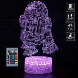 USB 3D LED Optical Illusion Night Light Desk Lamp 7 Colors S