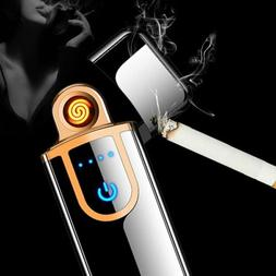 USB Electric Dual Flameless Lighter Smart Touch Sensor Recha