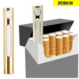 USB Rechargeable Cigarette Lighter with Red LED Light - Gold