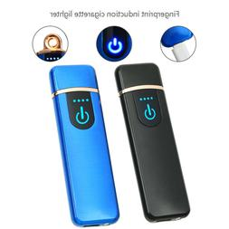 USB Rechargeable Fingerprint Touch Plasma Electric Lighter W
