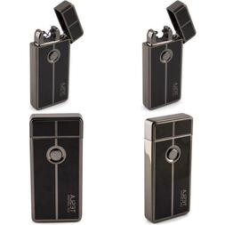 Tesla Coil Lighters Usb Rechargeable Windproof Dual Arc Ligh