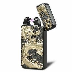 USB Rechargeable Windproof Flameless Electronic Plasma Pulse