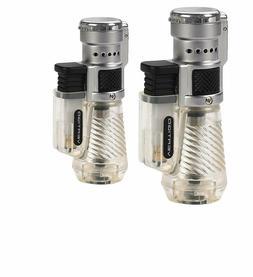 Vertigo Cyclone Triple Torch Lighter, Clear