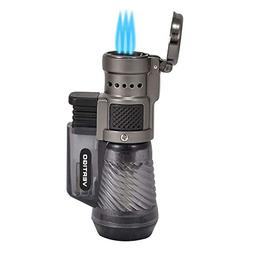 Vertigo by Lotus Cyclone Triple Torch Cigar Lighter Charcoal
