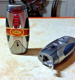 Colibri VORTEX cigar TWIN JET TORCH Lighter &  FOLD OUT PUNC