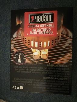 Weber Lighter Cubes Fire Starters - Pack of 24 Great Surviva