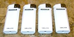 LIGHTERS Lot of 4 White Ronson Comet Refillable