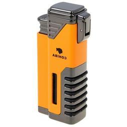 COHIBA Windproof Cigar Lighter 4 Torch Butane Gas Cigarette