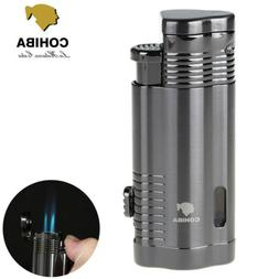 COHIBA Windproof Metal 3 Torch Cigar Cigarette Lighter Butan