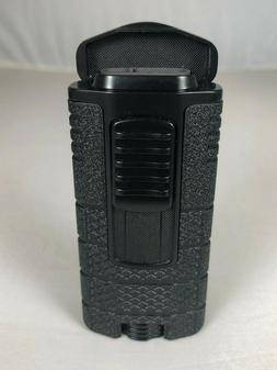 Xikar Lighter Tactical Triple Jet Flame w/ Clip- Black On Bl
