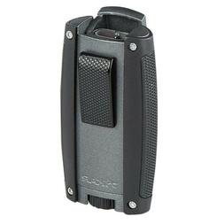 Xikar TURISMO Double Torch Lighter MATTE GREY - New In Box