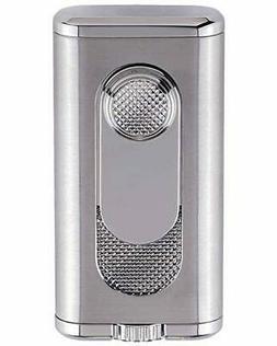 Xikar Verano Flat Flame Cigar Lighter - Silver - New