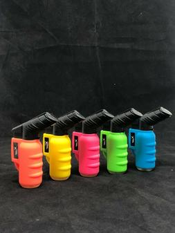 Xuper Neon Color Butane Lighter Jet Torch Flame Safe Lock Re