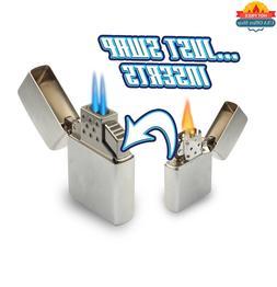 Z-Plus Insert Zippo Lighters Blazer Butane Dual Torch Flame