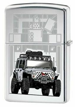 Zippo 1504,Jeep, High Polish Chrome Finish Lighter